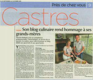 Délicimô ! - Son Blog de Cuisine et de Pâtisserie Culinaire rend hommage à ses grands-mères - Castres Olympique Tarn Occitanie - Yannick Rolland - www.delicimo.fr - Le Journal d'Ici