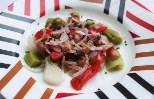 Délicimô ! - Recette Salade Poireaux Tomates Vinaigrette - www.delicimo.fr