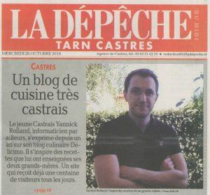 Délicimô ! - Un blog de recettes de cuisine et de pâtisserie très castrais - Castres, Tarn - Castres Olympique - www.delicimo.fr - La Dépêche du Midi