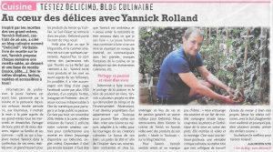 Article Presse Blog Délicimô - Yannick Rolland - Le Tarn Libre - Octobre 2017 - www.delicimo.fr