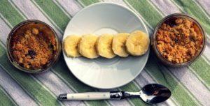 Délicimô ! - Recette Crumble Banane Coco à la Pâte à Tartiner Nutella - www.delicimo.fr