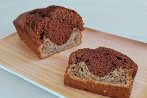 Délicimô ! - Recette Gâteau Cake Banana Bread Marbré au Chocolat - www.delicimo.fr