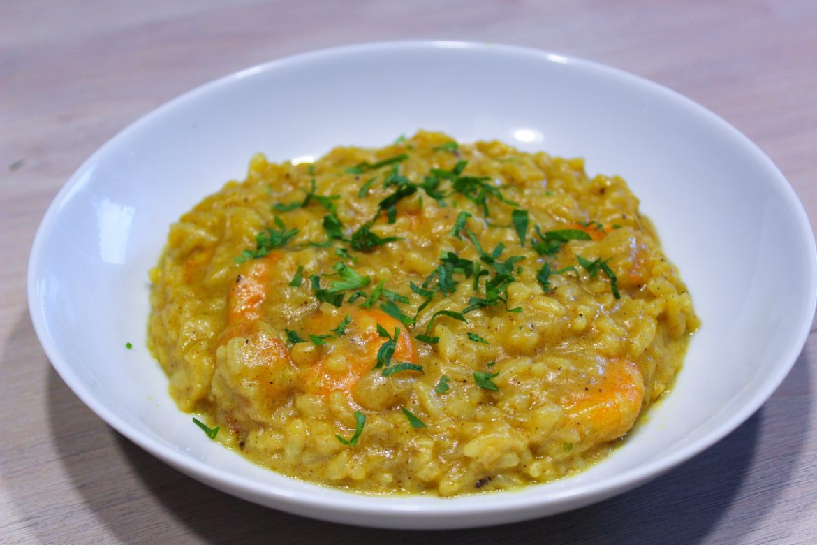 Risotto de Crevettes au Curry